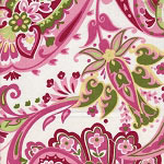 Paisley Splash Crib Sheet