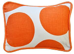 Spot On Tangerine Throw Pillow