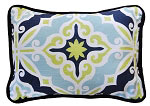Starburst in Kiwi Throw Pillow