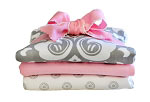 Stella Gray Burp Cloth Set
