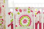 Strawberry Fields Crib Bumper