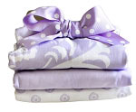 Sweet Violet Burp Cloth Set