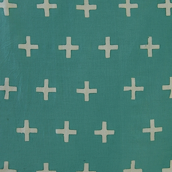 Andover Fabrics Teal Plus Signs