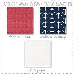 Anchors Away in Navy Crib Collection Fabric Swatches Only