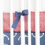 Red Crib Sheet  |  Anchors Away in Navy Crib Collection