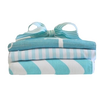 Aqua Anchor Cloth Set | Anchors Away in Aqua Crib Collection