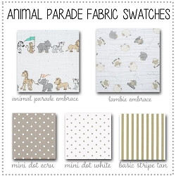 Animal Parade Crib Collection Fabric Swatches Only