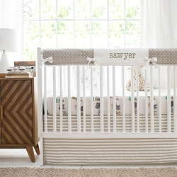 Neutral Crib Rail Cover Set | Animal Parade Collection