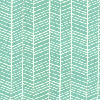 Aqua Herringbone Fabric | Free Spirit Fabrics Pond Modern Meadow by Joel Dewberry