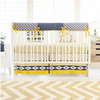 Aztec Crib Rail Cover Set | Arid Horizon Crib Collection