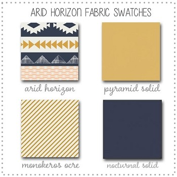 Arid Horizon Crib Collection Fabric Swatches Only