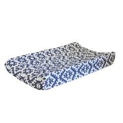 Navy Tribal Changing Pad Cover | Arizona in Navy Crib Collection