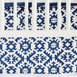 Navy Tribal Crib Skirt  | Arizona in Navy Crib Collection