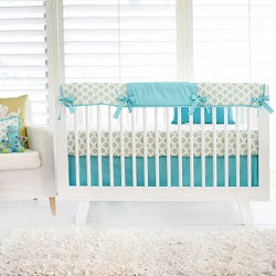 Nursery Rail Guard Set | Aztec Baby in Aqua Collection