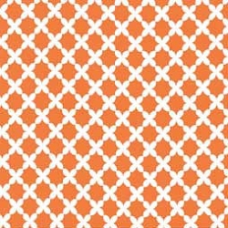 Basketweave in Tangerine Changing Pad Cover
