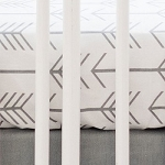 Gray Arrow Crib Sheet | Be Brave in Gray Collection