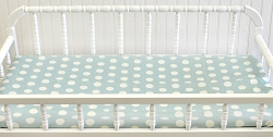 Soft Aqua Polka Dot Changing Pad Cover | Bella Amore Collection