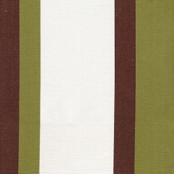 Olive Green & Chocolate Big Stripe