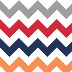 Riley Blake Lrg Chevron Boy | Big Zig Zag in Rugby