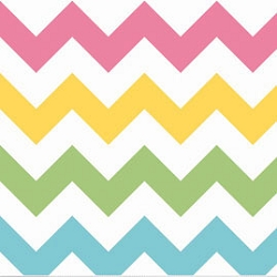 Riley Blake Large Chevron Girl | Big Zig Zag in Rainbow