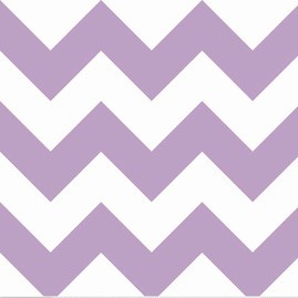 Lavender Chevron Fabric | Big Zig Zag in Lavender