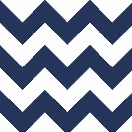 Navy Chevron Crib Sheet | Zig Zag Baby in Navy Crib Collection