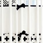 Black and White Crib Bumper | Black Swiss Cross Collection
