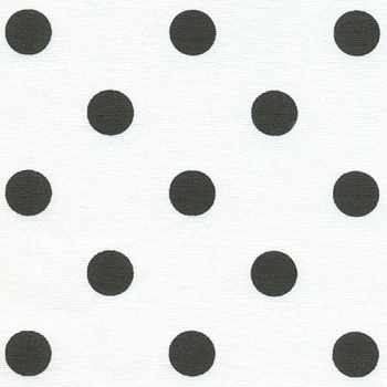 Polka Dot Black and White Fabric | Premier Prints Polka Dot White/Black