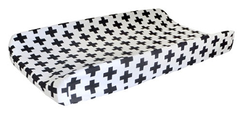 Black Swiss Cross Changing Pad Cover