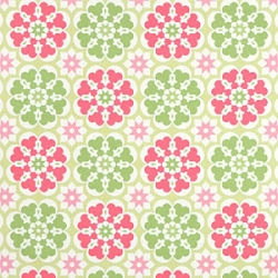 Pink & Green Floral Fabric | Blossom in Pink