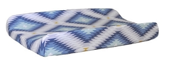 Aztec Changing Pad Cover  |  Wander in Blue Collection