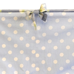 Blue Polka Dot Crib Bumper with Cording