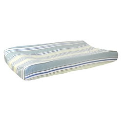 Blue & Green Stripe Changing Pad Cover | Blue Skye Collection