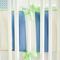 Blue & Green Crib Bumper | Boardwalk Crib Collection