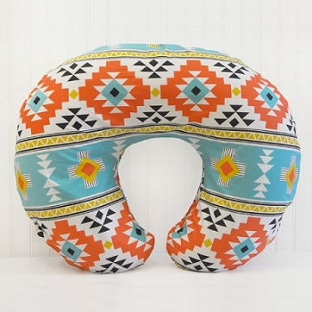 Tribal Nursing Pillow Cover | Four Corners Teal Crib Collection