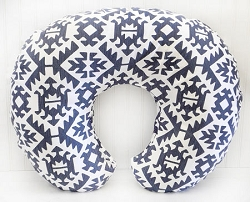 Navy Tribal Nursing Pillow Cover  | Arizona in Navy Crib Collection