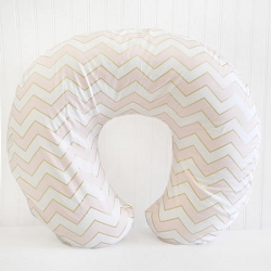 Gold & Pink Chevron Nursing Pillow Cover