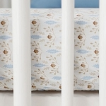 Little Acorn Crib Sheet | Born Wild in Blue Collection