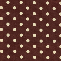 Chocolate Polka Dot Changing Pad Cover