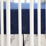 Navy Crib Sheet | Buck Forest in Silver Crib Collection