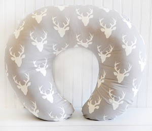 Deer Nursing Pillow Cover| Buck Forest in Mist Crib Collection