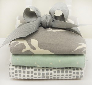 Woodland Burp Cloths | Buck Forest Mist Crib Collection