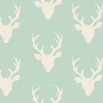 Mint Deer Crib Sheet | Buck Forest in Mint Crib Collection