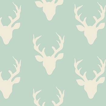 Deer Fabric | Art Gallery Buck Forest Mint