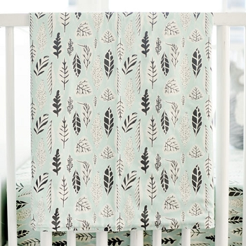 Woodland Baby Blanket | Buck Forest in Mist Crib Collection