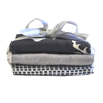 Navy Deer Burp Cloth Set | Buck Forest in Twilight Crib Collection