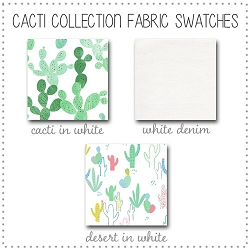 Cacti Crib Collection Fabric Swatches Only