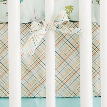 Plaid Crib Sheet | California Dreaming Collection