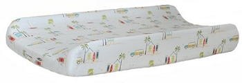 Retro Surf Changing Pad Cover  |  California Dreaming Crib Collection