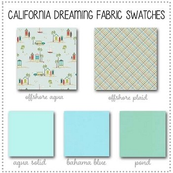 California Dreaming Crib Collection Fabric Swatches Only